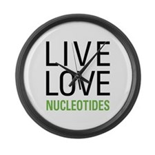 Live Love Nucleotides Large Wall Clock