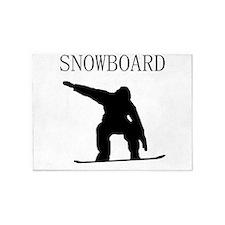Snowboard 5'x7'Area Rug
