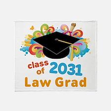 2031 Law School Grad Class Throw Blanket