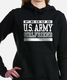 Proud U.S. Army Girlfrie Women's Hooded Sweatshirt