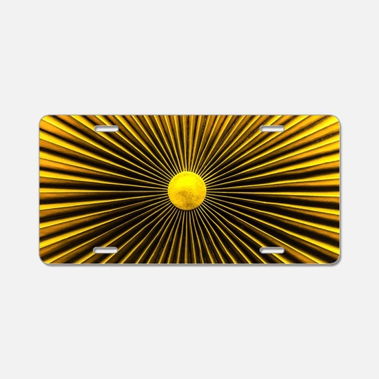 Abstract Amplifier Aluminum License Plate