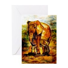 Elephant Mother And Baby Greeting Cards