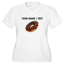 Custom Chocolate Donut Plus Size T-Shirt