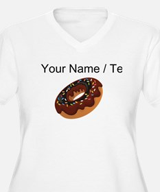 Custom Chocolate Donut Plus Size T-Shirt
