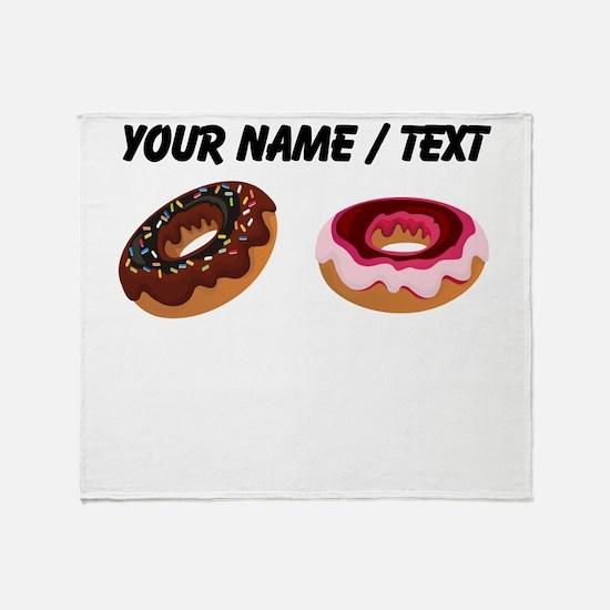 Custom Donuts Throw Blanket
