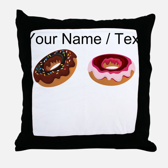 Custom Donuts Throw Pillow