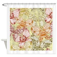 Trendy Butterflies Shower Curtain