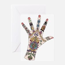 DRs Mehndi hand Greeting Cards