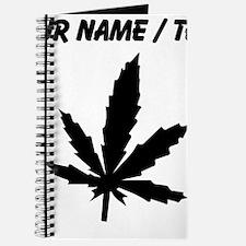 Custom Black Weed Leaf Journal