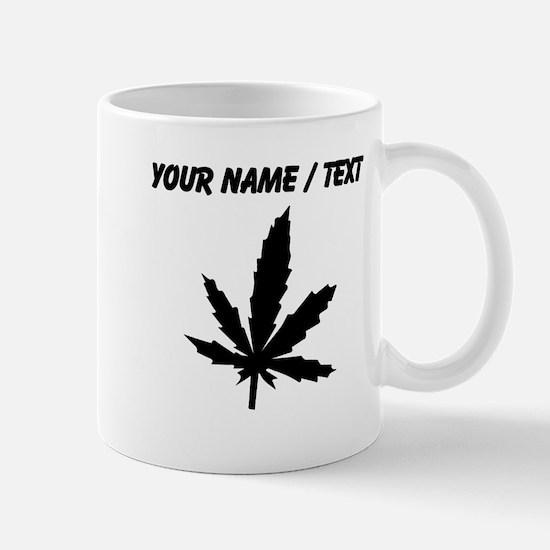 Custom Black Weed Leaf Mugs