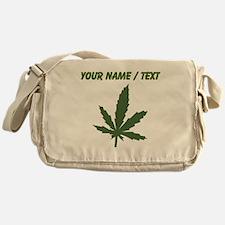 Custom Green Weed Leaf Messenger Bag