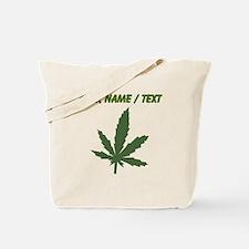 Custom Green Weed Leaf Tote Bag