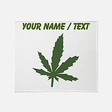 Custom Green Weed Leaf Throw Blanket