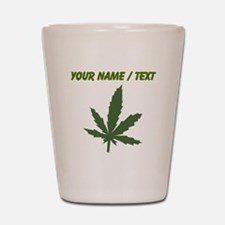 Custom Green Weed Leaf Shot Glass