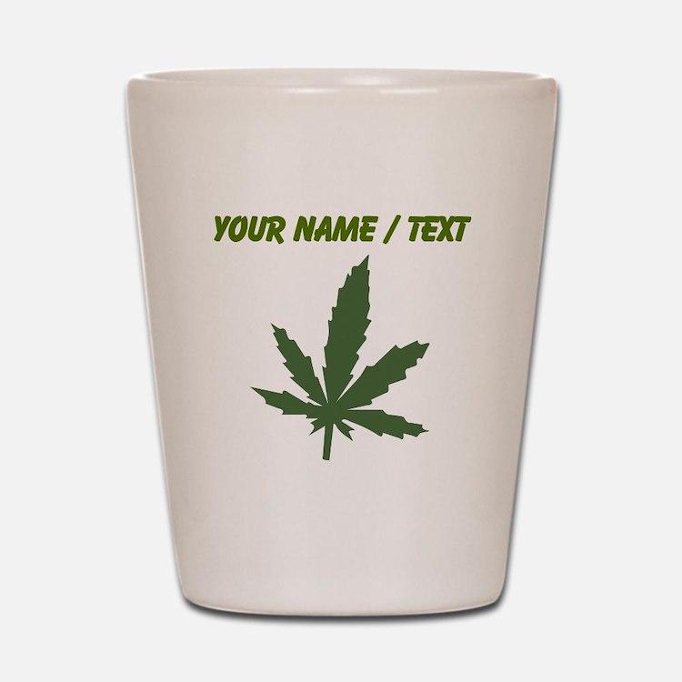Custom Green Weed Leaf Shot Glass