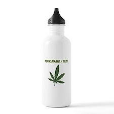Custom Green Weed Leaf Water Bottle