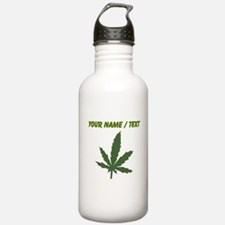 Custom Green Weed Leaf Water Bottle
