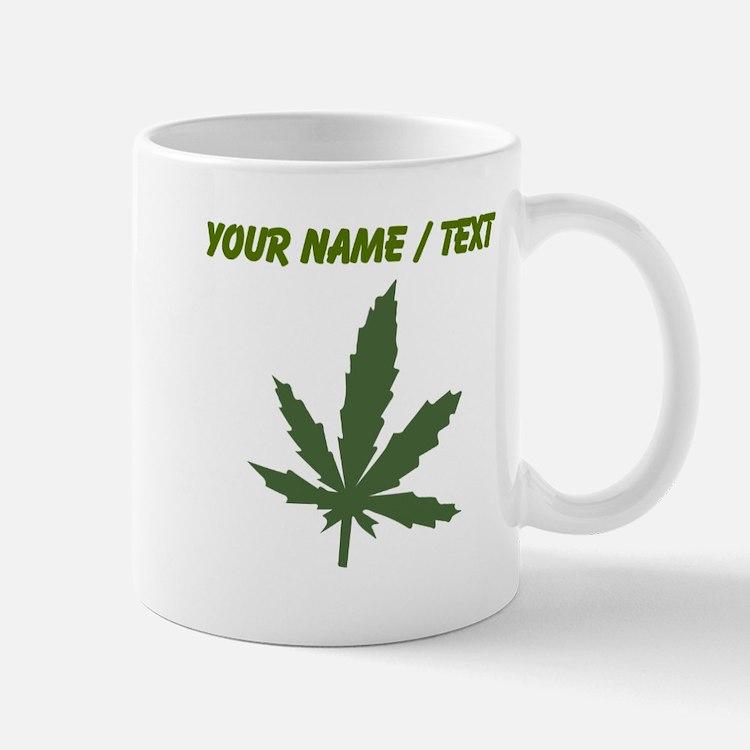 Custom Green Weed Leaf Mugs