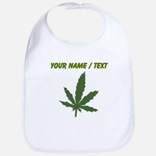 Custom Green Weed Leaf Bib