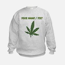 Custom Green Weed Leaf Sweatshirt