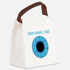 Custom Blue Eye Ball Canvas Lunch Bag