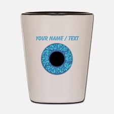 Custom Blue Eye Ball Shot Glass