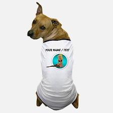 Custom Cartoon Pinup Girl Dog T-Shirt