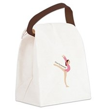 I Love Gymnastical Canvas Lunch Bag