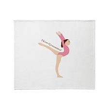 I Love Gymnastical Throw Blanket