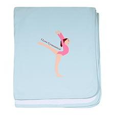 I Love Gymnastical baby blanket