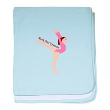 Rock Star Gymnast baby blanket