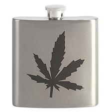 Black Weed Leaf Flask