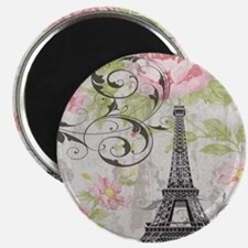 modern floral paris eiffel tower art Magnets