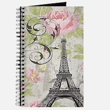 modern floral paris eiffel tower art Journal