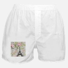modern floral paris eiffel tower art Boxer Shorts