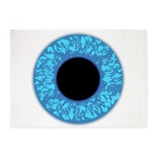 Blue Eye Ball 5'x7'Area Rug