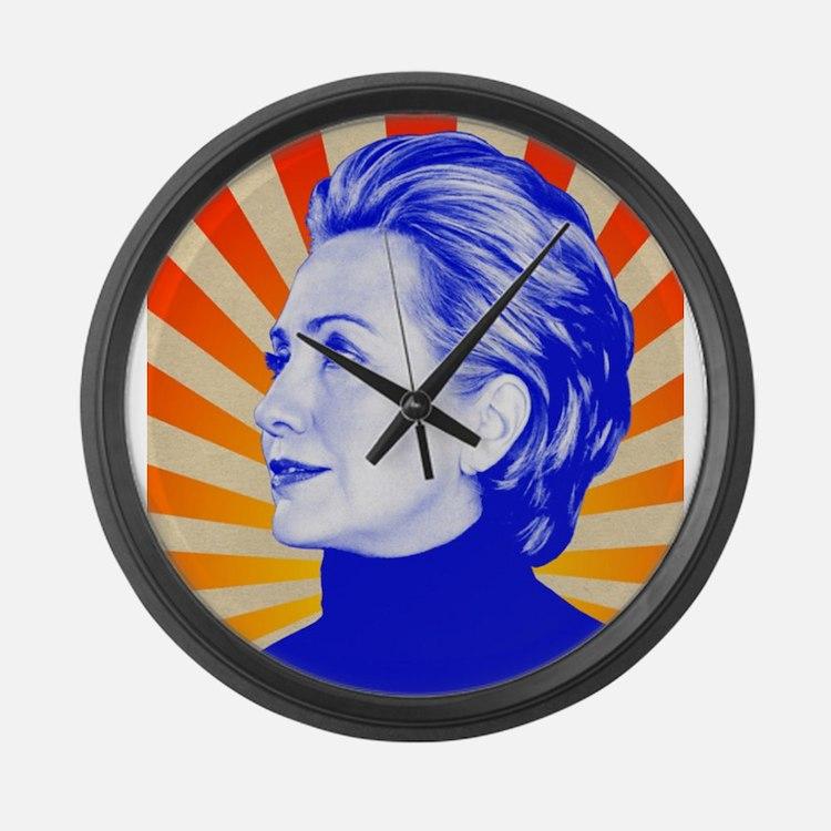 Hillary Clinton Large Wall Clock