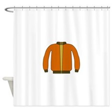 Orange Jacket Shower Curtain