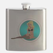 Cartoon Pinup Girl Flask