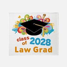 2028 Law School Grad Class Throw Blanket