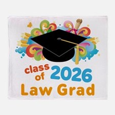 2026 Law School Grad Class Throw Blanket