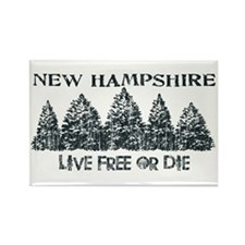Cute Live free or die Rectangle Magnet