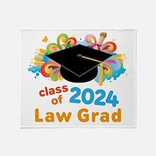 2024 Law School Grad Class Throw Blanket