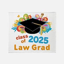 2025 Law School Grad Class Throw Blanket
