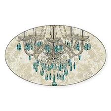 modern chandelier damask fashion paris art Decal