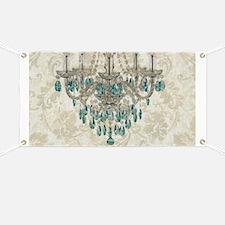 modern chandelier damask fashion paris art Banner