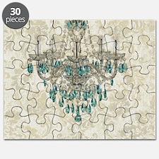 modern chandelier damask fashion paris art Puzzle