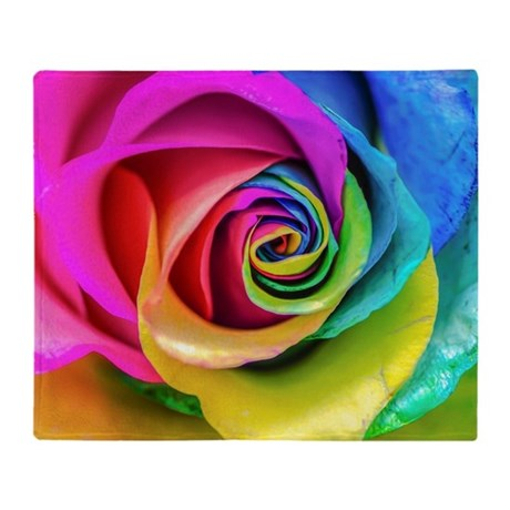 Rainbow rose square throw blanket by listing store 118787420 for Where can i buy rainbow roses in the uk