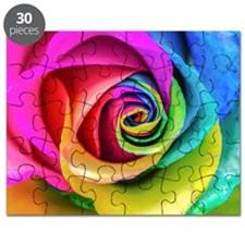Rainbow Rose Square Puzzle