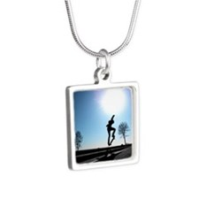 Against the Sky Silver Square Necklace